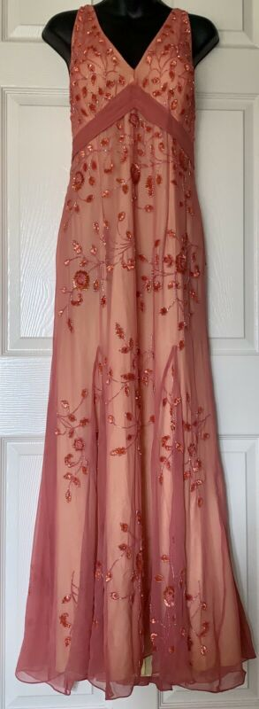 sean collection formal dress 100% Silk, XL