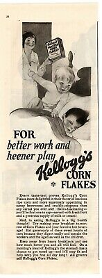 1923 ORIGINAL VINTAGE KELLOGG'S CORN FLAKES CEREAL MAGAZINE AD (M2)