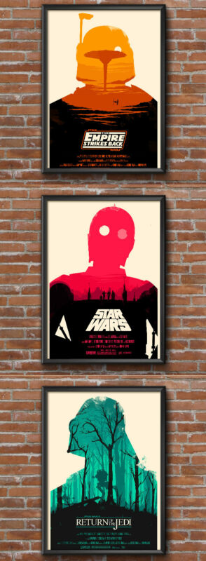 STAR WARS vintage printable poster set of 3 (DIGITAL) five star quality