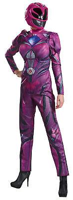 Pink Ranger 2017 Deluxe Erwachsene Kostüm Film Aufdruck Torso Overall