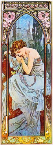 1899 Nocturnal Slumber Vintage French Nouveau France Poster Print