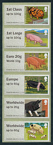 NCR-PIGS-COLLECTOR-STRIP-OF-6-including-THE-EURO-20g-WORLD-10g-VALUE-POST-GO