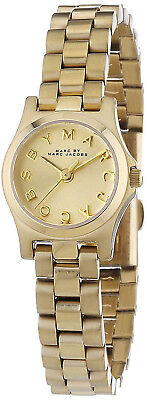 Marc Jacobs MBM3199 Henry Champagne Dial Gold Tone Stainless Women's Watch