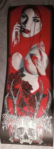 Rhys Cooper - Cradle of Filth Red Variant #46/91 Limited Art Print 12x36 inches