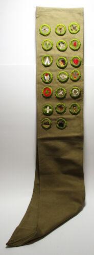 Vintage Boy Scout Sash With 20 Merit Badges 1930s? 1940s?