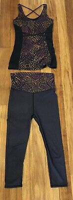 Fabletics Outfit Set High Waisted Leggings And Matching Top