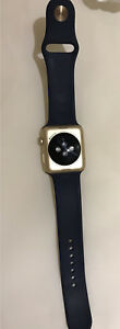 Apple watch gold with navy straps- series 1 BRAND NEW