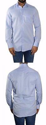 Herren Hemd extra lange Arme Gr.4XL Blau 49/50