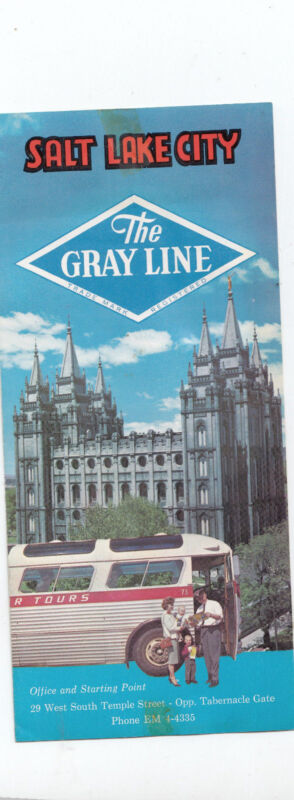 Salt Lake City Utah The Grey Line Bus Tour 1962 Vintage