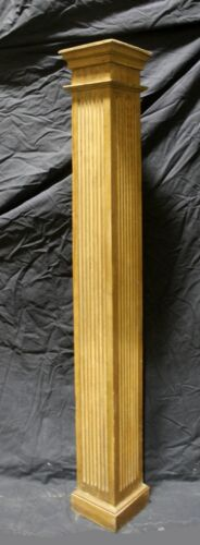 "60"" Antique Vintage Chestnut Oak Wood Wooden Newel Post Column Baluster Pillar"