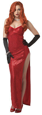 Jessica Rabbit Silver Screen Sinsation Movie Star Adult Costume (Adult Screen)