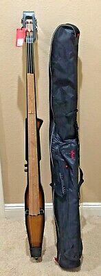 Stagg EDB-3/4-H Electric Upright Double Bass 3/4 Size Violinburst Finish+Gig - Electric Double Bass
