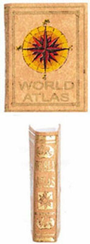 Dollhouse Miniature Leather Bound World Atlas