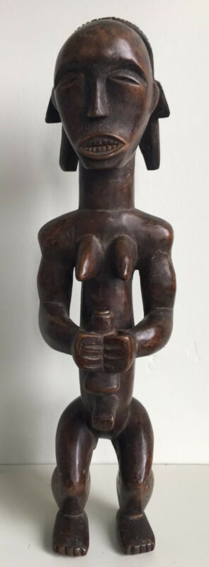 Antique African Tribal Fang Female Figure, Gabon. Estate Collection