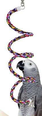 1041 Medium Rope Boing swing bird toy parrot cage toys cages conure african (Swing Toy)
