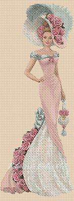 Elegant Lady  Full Length Counted Cross Stitch  No. 1-156n