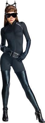 Catwoman Geheim Wünsche Erwachsene Damen Kostüm Film Schwarz Sexy Anzug Rubies ()