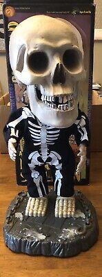 "2001 Gemmy 16"" Big Head Singing Dancing Skeleton Animated ""Super Freak"""
