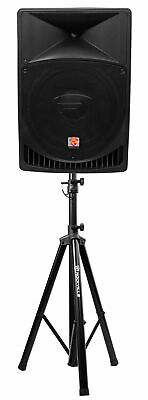 "Rockville RPG15 15"" Professional Powered Active 1,000w 2-Way DJ PA Speaker+Stand"