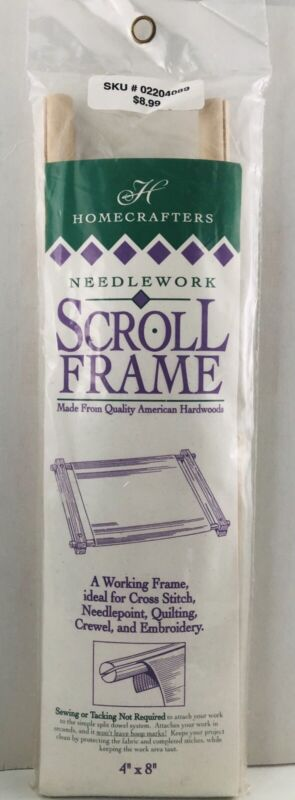 Homecrafters ~ NEEDLEWORK SCROLL FRAME ~ Cross Stitch Needlepoint Crewel 4x8 H48