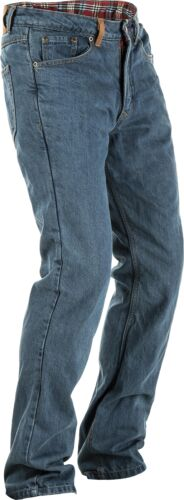 FLY RACING MEN'S RESISTANCE JEANS BLUE SZ 34 TALL #6049 478-303~34TALL