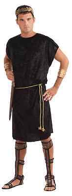 Medieval Tunics For Mens (Black Men Costume Tunic with Gold Rope for Viking Roman Soldier Peasant)