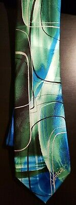 Jerry Garcia Limited Edition 100% Silk Neck Tie titled Modern Furniture Abstract Jerry Garcia Modern Furniture
