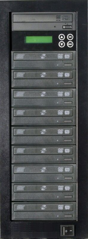 MediaStor #a34 LS 1-9, 1 to 9 Target DVD Duplicator LightScribe Disc Publishing