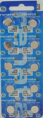 10 pc 370 Renata Watch Batteries SR920W FREE SHIP  0% MERCURY