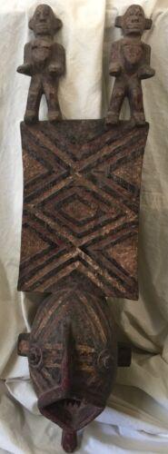 Antique African Mask Bwa Tribe Burkino Faso Spirt Figure Plank Mask