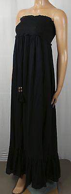 Denim Supply Ralph Lauren Black Halter Dress Beaded Tassels NWT $145 Cotton Denim Halter Dress