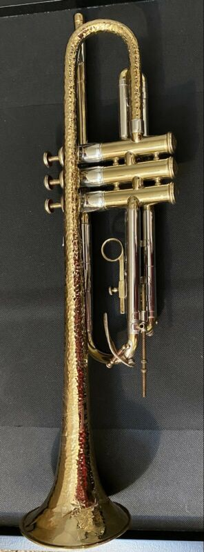 F.E. Olds & Son 1934-35 Hammered Brass Military Model Trumpet.