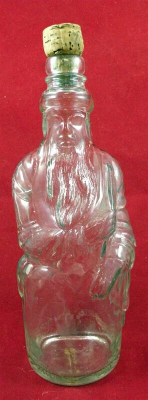 Poland Spring Maine Figural Moses Water Bottle With Cork Hiram Ricker & Sons