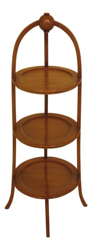 L46446EC: BIGGS Inlaid Mahogany 3 Tier Muffin Stand
