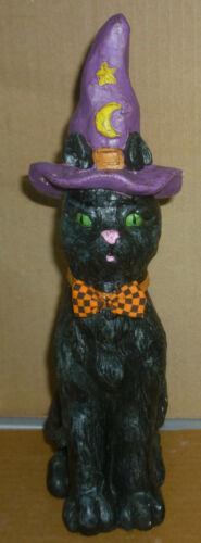 "Halloween WITCH CAT Figurine / Statue 11"" Tall"