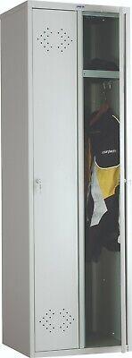 Ls21 Steel Locker Storage With 2 Tiers 2 Key Air Holes Doors Light Gray Color