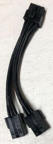 "XFX PCI Express 8-pin male to Dual 6-pin female PCI Express Cable GPU Adapter 6"""