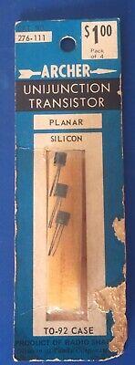 Archer Cat. No. 276-111 Unijunction Transistor Planar Silicon Pack Of 3