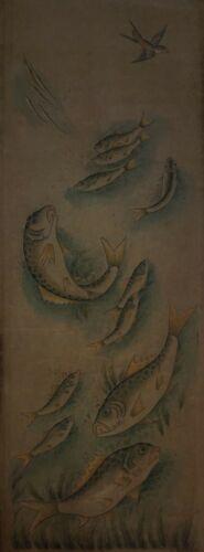 Very Fine 18~19th Century Korean MinHwa Longevity Symbols #2 on Jangji