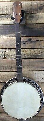 Vintage Unbranded Tenor Banjo - Project, Needs Repairs   #R6395