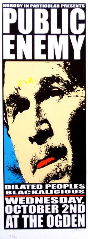 Public Enemy Concert Poster 2002