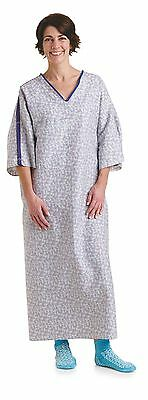 Medline patient gowns IV, TIESIDE, TELEM PKT, TRANQUILITY Print MDTPG5ITSTRN