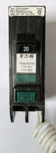 EATON CUTLER HAMMER QBCAF1020 QBCAF AFCI Earth Leakage Circuit Breaker