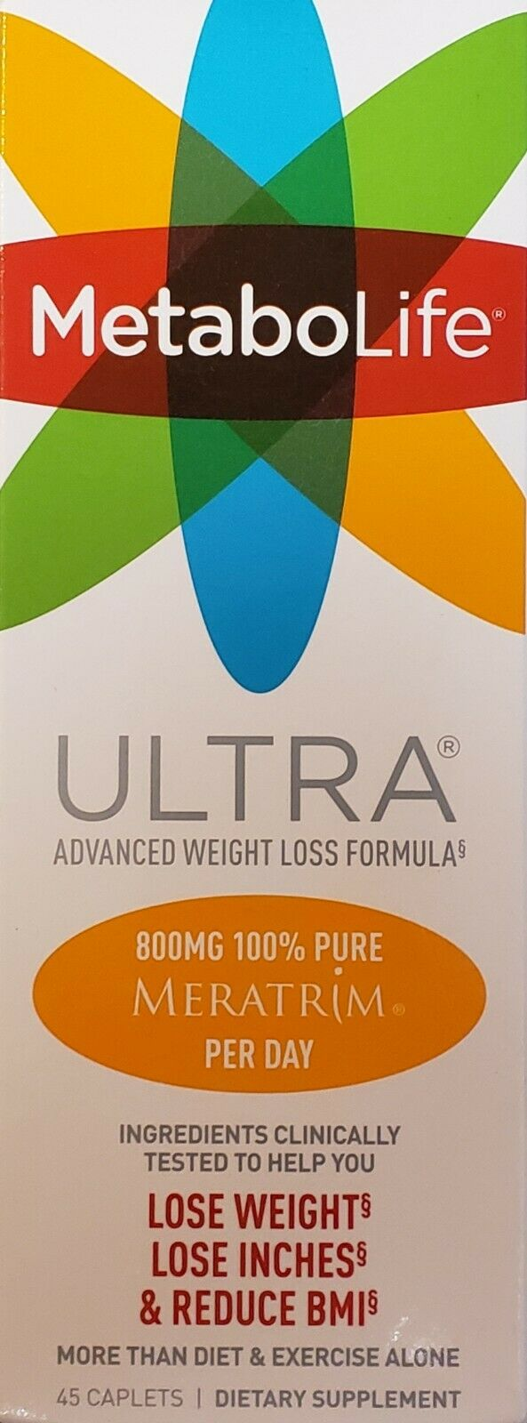 Twinlab MetaboLife Ultra Advanced Weight Loss Formula Dietary Supplement, 45