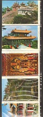 Undated Travel Souvenir 12 Postcard Views China Temples Place Art