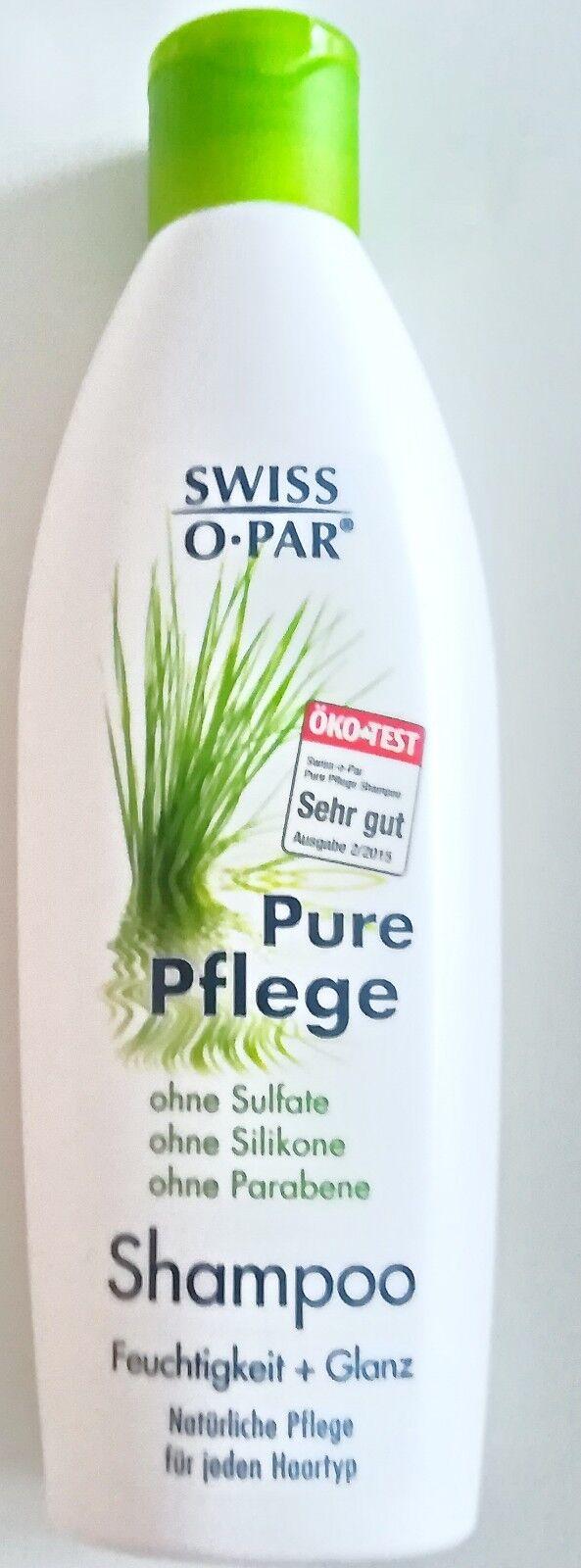 6 x Swiss-O-Par PURE PFLEGE SHAMPOO für Feuchtigkeit + seidigen Glanz 250ml