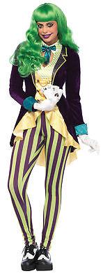 Joker Wicked Trickster Adult Women's Costume Halloween Fancy Dress Leg Avenue - Joker Costume For Woman