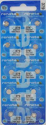 10 pc 379 Renata Watch Batteries SR521SW FREE SHIP 0% MERCURY