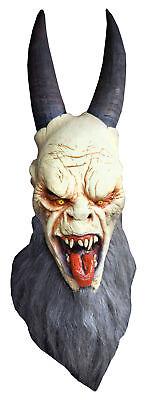 Krampus Latex Adult Mask Zombie Monster Movie Character Head Costume Halloween