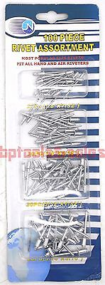 Assorted Rivets - 100pc Pop Rivet Assortment Set 1/8
